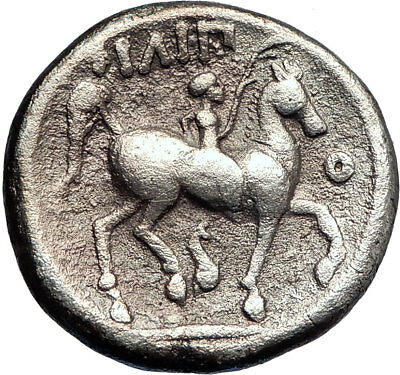 Celts Imitation PHILIP II Ancient Genuine Silver Greek Coin ZEUS  Horse  i73170