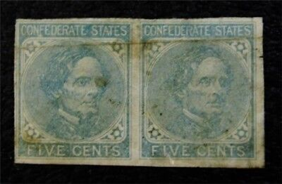 nystamps US CSA Confederate Stamp # 6 Mint $32 PR