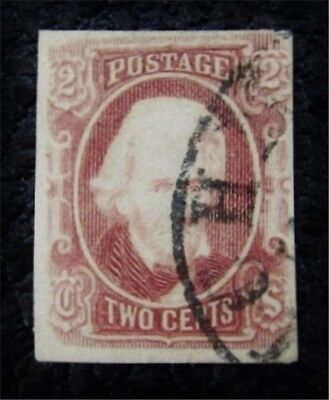 nystamps US CSA Confederate Stamp # 8 Used $350