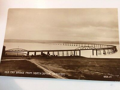 Old Tay Bridge After Disaster RP Postcard
