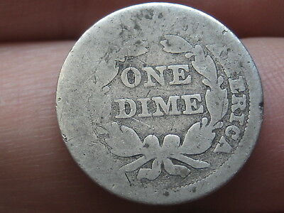 1858 P Seated Liberty Silver Dime