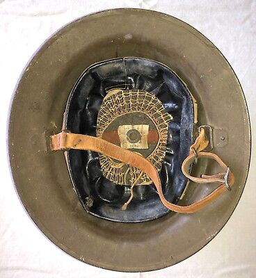 Original WWI US Army Doughboy Helmet, With Tag, Complete Chin Strap ZC 44...NICE