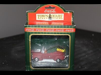 Coca Cola Town Square Collection Sedan Red Car Christmas Tree