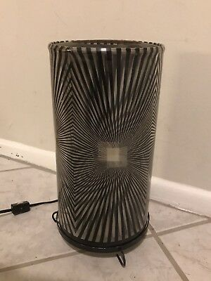 Vintage '70's Motion Psychedelic Rotating Heat Lamp Zebra Pattern - Works
