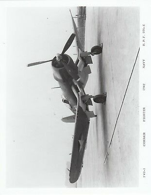 VINTAGE F-4U Navy Corsair Fighter Aircraft  PHOTO, 8 X 10 Original MINT!