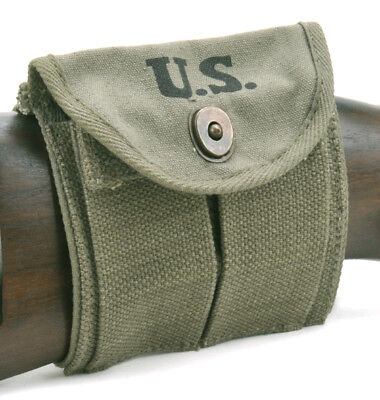 OD Green .30 M1 CARBINE  BUTTSTOCK TYPE POUCH Marked JT&L 1944