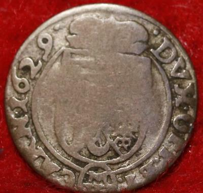 1629 Great Britain 1 Pence Silver Foreign Coin