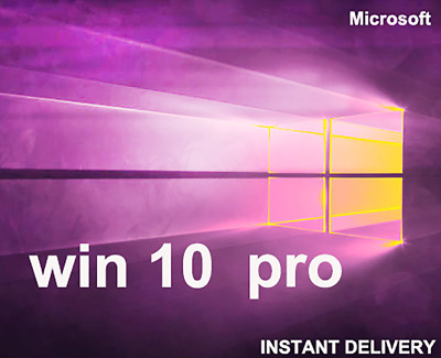 Microsoft Activation Windows 10 Pro edition 64 bit/32 bit Genuine key Lifetime