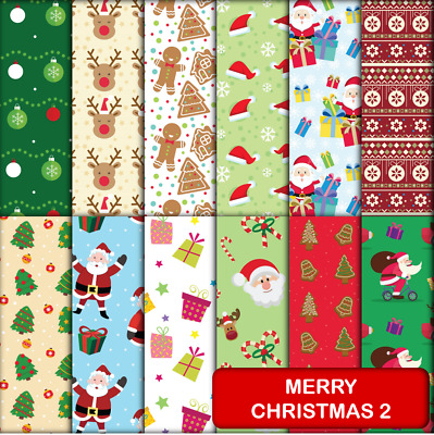 MERRY CHRISTMAS 2 SCRAPBOOK PAPER - 12 x A4 pages.