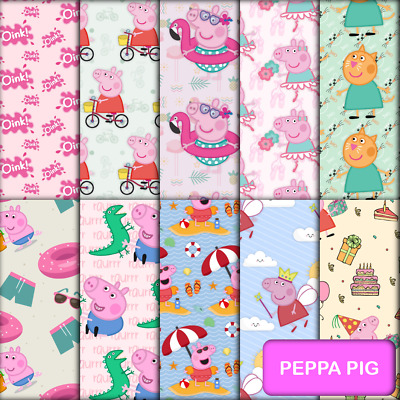 PEPPA PIG INSPIRED SCRAPBOOK PAPER - 10 x A4 pages.