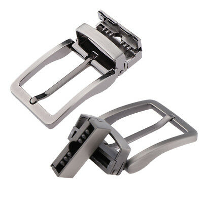 2xClassic Reversible Mens Alloy Antique Belt Buckle Single Prong Rectangular