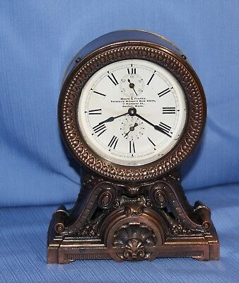 Seth Thomas Antique Rare Long Alarm Clock 100% Original Beautiful Runs Great