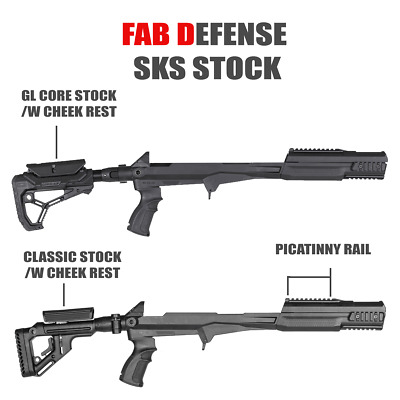 FAB Defense Tactical SKS Stocks w/ Cheek Rest Chassis System