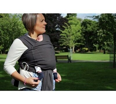 Close Caboo +Cotton Blend Baby Carrier Sling In Grey