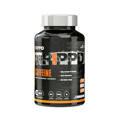 RIPPD Caffeine 120 Tablets 200mg Weight Loss Slimming Energy Power Pre Workout