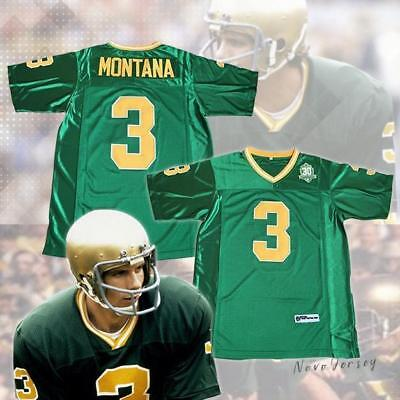 a8d170c3f NEW JOE MONTANA  3 Football Jersey Fighting Irish Notre Dame ...