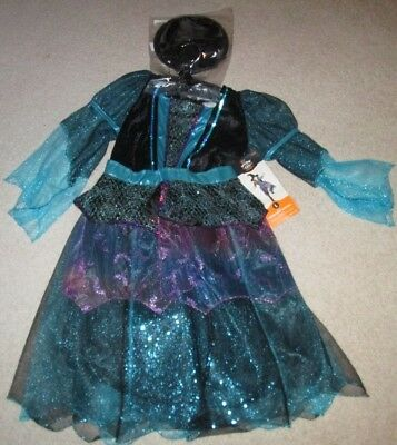 NWT Child's Halloween Costume Mystery Witch Size Large (10-12)