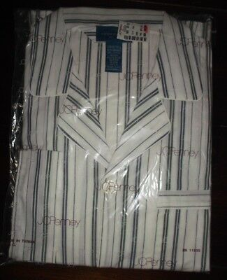 Vintage Mens L Tall striped Long Sleeve Pajama Set Penneys Towncraft New