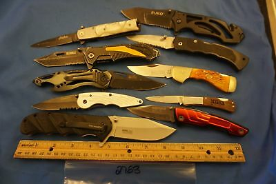 2783   Ten assorted  pocket knives