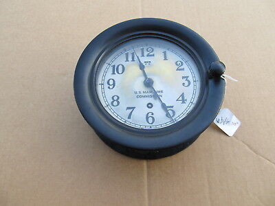 Vintage U.S. Maritime Commission Seth Thomas Ship Clock - Bakelite Case