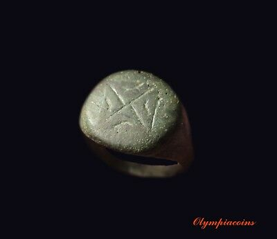 * VERY FINE * Ancient ROMAN Bronze Legionary ring ** X **