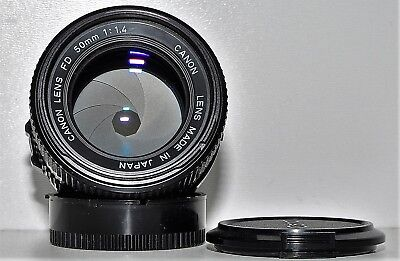 Canon lens FD 50mm f/1,4, sehr gut!!