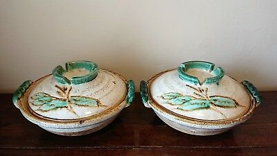 Rare!  Matching PAIR of large Antique/Mid Century Japanese Donabe Cooking Pots
