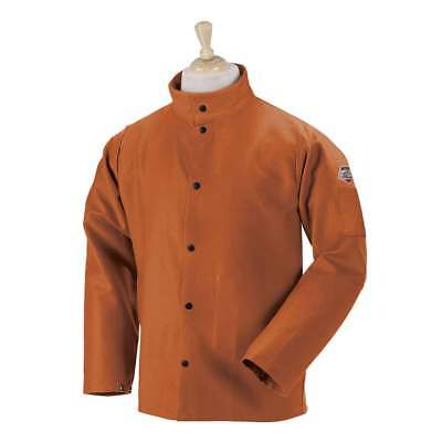 Black Stallion FB2-30C TruGuard 200 FR Cotton Welding Jacket, Brown, Small