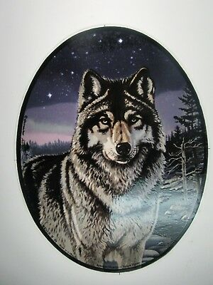 Glassmasters: Wolf by wildlife artist Meger  6.5 x 8.5inches