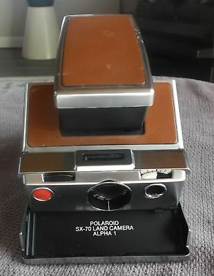 Polaroid SX-70 Alpha 1 Land Camera Brown Leather Very Good Condition