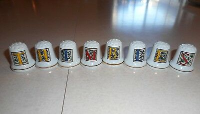 HUGE LOT OF 198 VINTAGE THIMBLES ~ BONE CHINA/BISQUE METAL FIGURES and More ~