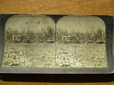 EARLY 1900's MACHINERY in Indiana during farming Season,PHOTOGRAPH STEREOVEW!