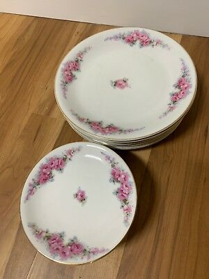 Union China Made In Japan Plates Floral