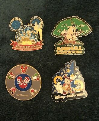 Walt Disney World Theme Park Official Trading Pins With Lanyard