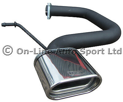 VW Golf MK5 1.4 1.6 2.0FSi Exhaust Rear Silencer Delete Tailpipe ULTER Twin 70mm