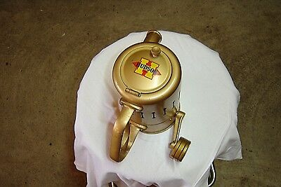 Vintage HUDSON Hand Crank Gold Colored Garden Duster,   Never Used ???