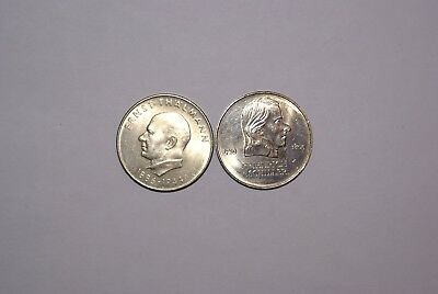 2 UNCIRCULATED 20 MARK COINS from EAST GERMANY - 1971 & 1973 (2 TYPES)