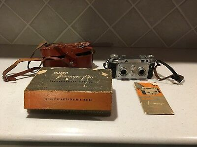 Vintage Busch Verascope f40 Stereoscopic Camera with Case a Boxnd