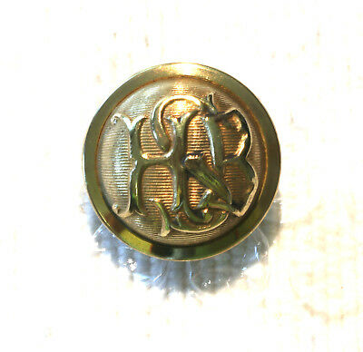 "Antique ?military Academy ""hbs"" Monogrammed Old English Lettered Brass Button"