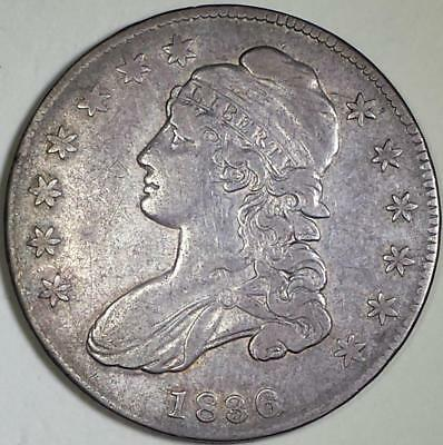 1836  Capped Bust Silver Half Dollar - ** VF++ ** Lettered Edge - O#114, R2