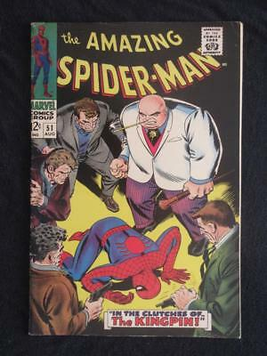 Amazing Spider-Man #51 MARVEL 1967 -HIGHER GRADE- 2nd app Kingpin - John Romita