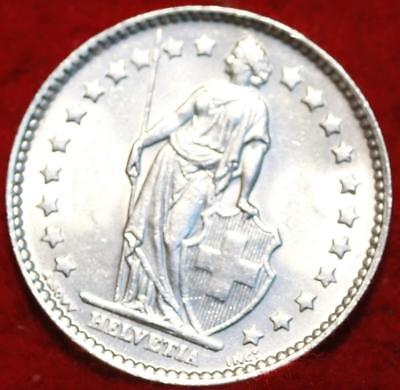 Uncirculated 1964 Switzerland 1 Franc Silver Foreign Coin