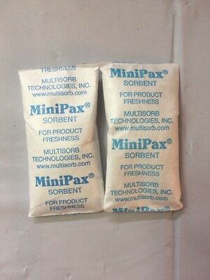 Recycled 160 PCS. Multisorb MiniPax Sorbent Desiccant Pack Silica Gel