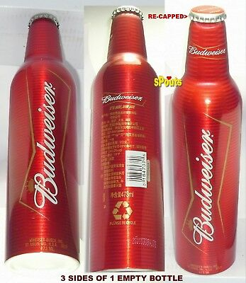 Nice Budweiser Red Bud Usa>China Brewed Aluminum Beer Bottle-Can Chinese #501660