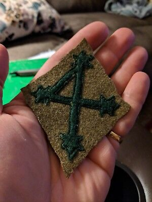 WWI United States Army 4th Ivy division patch unique varient LOOK!