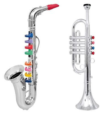 Click N' Play CNP0247 Set of 2 Musical Wind Instruments for Kids-Metallic...