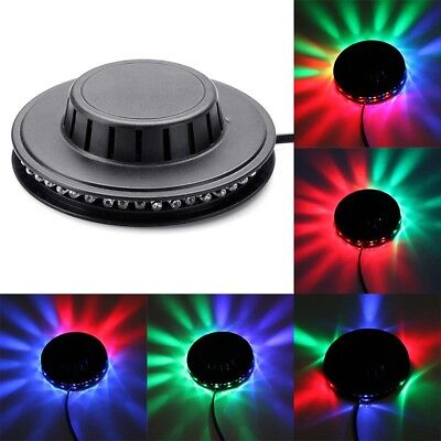 48 LEDs Rotating Light Bulbs Flying Saucer Style KTV Disco DJ Party Stage Lamp