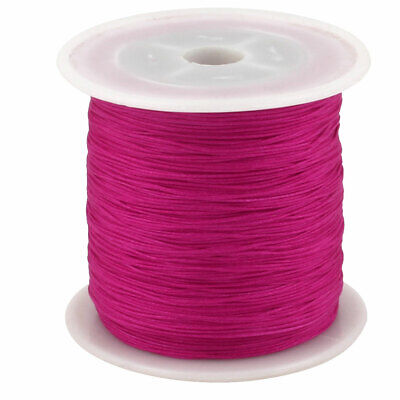 Maison DIY Art en Nylon Tressé Noeud Chinois Cordon Corde 153 Yards Fuchsia
