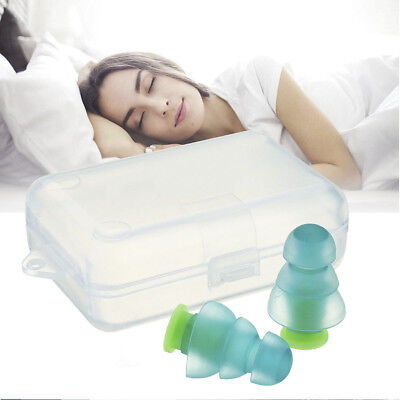 Noise Cancelling Ear Plugs +Box for Concert Musician Hearing Sleeping Protection