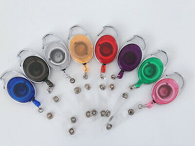 3X Retractable Badge Holder Reel Swipe Card Security ID Pull Key Ring Tag Clip